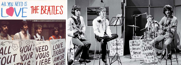 Beatles cantavam o amor nos anos 60: ALL YOU NEED IS LOVE!