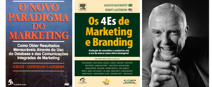 Robert Lauterborn O primeiro autor a mudar o enfoque de Marketing de produto para Marketing de clientes. Criador dos 4 Cs de Marketing e co-Criador dos 4 Es de Marketing e Branding.